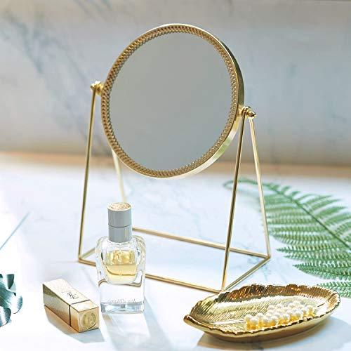 PuTwo Belleza Espejo cosmético, diseño Decorativo, Princesa Estilo de un Solo Lado Espejo-champán...