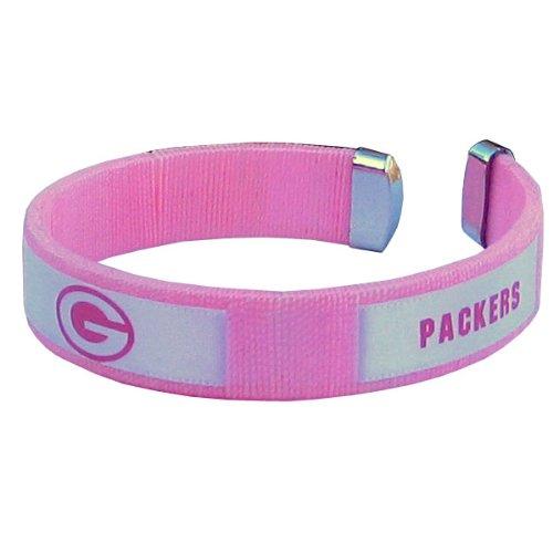 Siskiyou NFL Green Bay Packers Pink Fan Band Armband (Packers Band Green Bay)