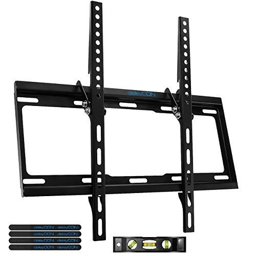"deleyCON Universal TV Wandhalterung - 32"" - 55"" Zoll (81-140cm) - bis 35Kg & VESA 400x400mm - Neigbar - Wandabstand 25mm - TV LCD LED OLED"