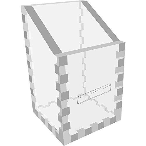 Azeeda Mini 'Lineal' Klar Schreibtisch Aufgeräumt / Stiftehalter (DT00023044) (Klare Mini-lineal)