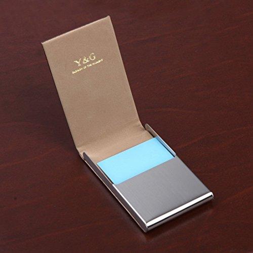 YDC05 Bester Visitenkarte-Halter-Leder-Karten-Kasten Ausgezeichneter Designer durch Y&G YDC0625-Bronze
