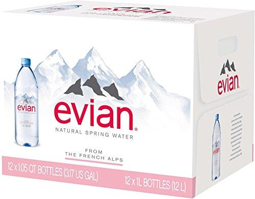 Evian Mineralwasser Mehrweg, (12 x 1 l) (Wasser Evian)
