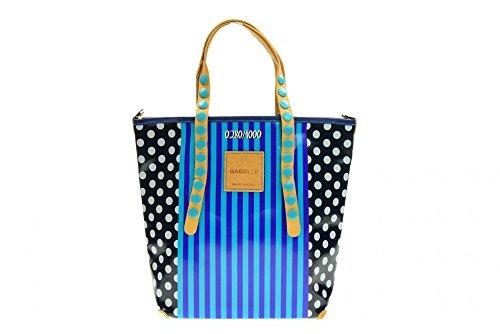 GABS Tasche Frau GABSILLE BLATT P0049-BLUE LINES M Righe Blu