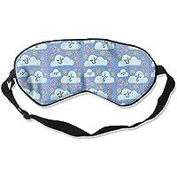 Sleep Eye Mask Cloud Flowers Lightweight Soft Blindfold Adjustable Head Strap Eyeshade Travel Eyepatch E14 preisvergleich bei billige-tabletten.eu