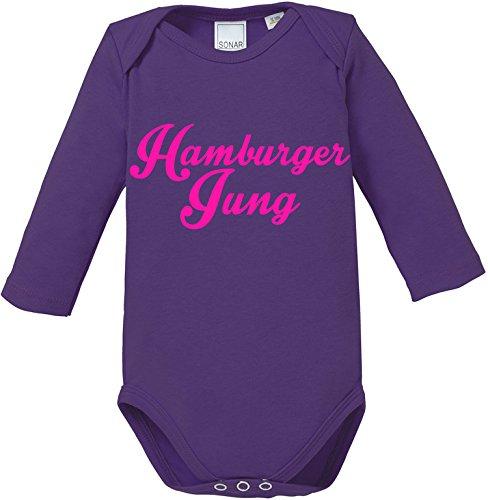 EZYshirt® Hamburger Jung Baby Body Longsleeve