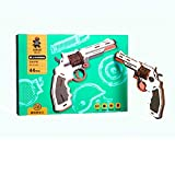 Image for board game Puzzles 3D three-dimensional jigsaw wooden pistol model, children's educational toys little boy, revolver (Color : Multi-colored)