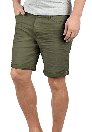 Blend Diego Herren Jeans Shorts Kurze Denim Hose Aus Stretch-Material Slim Fit, Größe:M, Farbe:Dusty Olive Green (77203)