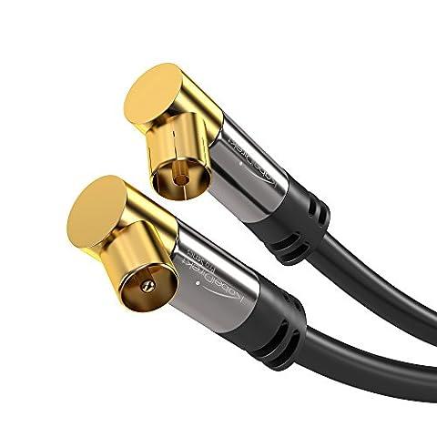 Cable Antenne Tv Male Femelle - KabelDirekt 0.5m Câble d'antenne coaxial mâle >
