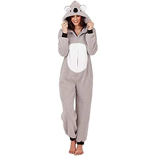 pijama de unicornio kawaii Enterizo de Lana Loungeable con Forma de Animal