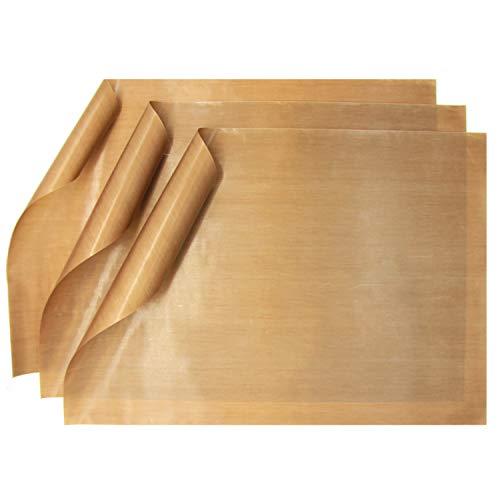 GOURMEO Papel de Horno Permanente, 3 Piezas 32 x 46 cm - Reutilizable, Capa antiadhesivo, Permanente, se Puede Lavar en lavavajillas, Recortable | Folio de Horno, Papel de Horno