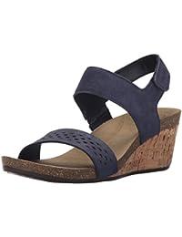 Caprice 22413, Zapatos de Tacón para Mujer, Azul (Ocean PRL Comb 873), 40 EU