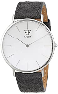 Faber time Unisex-reloj analógico de cuarzo cuero F809SL de Faber Time