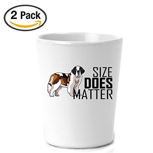 Saint Bernard Geschenke für Frauen und Herren | myfavegift | Dog Mom Geschenke | Hundeliebhaber Geschenke | Saint Bernard Schnapsglas Set | Fassungsvermögen 2Pack