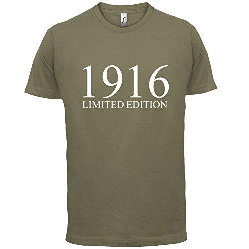 1916 Limierte Auflage / Limited Edition - 101. Geburtstag - Herren T-Shirt - 13 Farben Khaki
