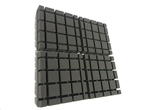 Advanced Acoustics - Espuma acústica en forma de cubo, paquete de 12 baldosas (1,1 m2)