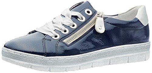 Remonte Damen D5803 Sneaker, Blau (Marine/Silver), 38 EU (Blau High Top Schuhe Für Frauen)
