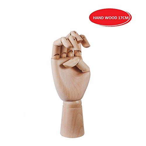 EMI Craft Modèle de Main S (17cm) Articulé en Bois Mannequin D'une Main