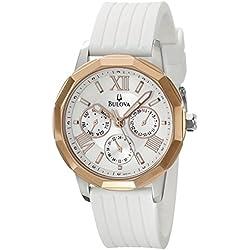 Bulova 98N101 - Reloj para mujer con correa de caucho, color gris