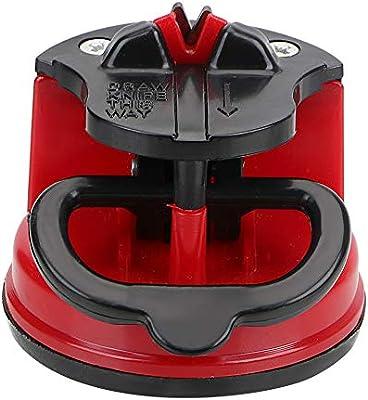 1 afilador de cuchillos manual con ventosa para afilar utensilios de cocina, color al azar
