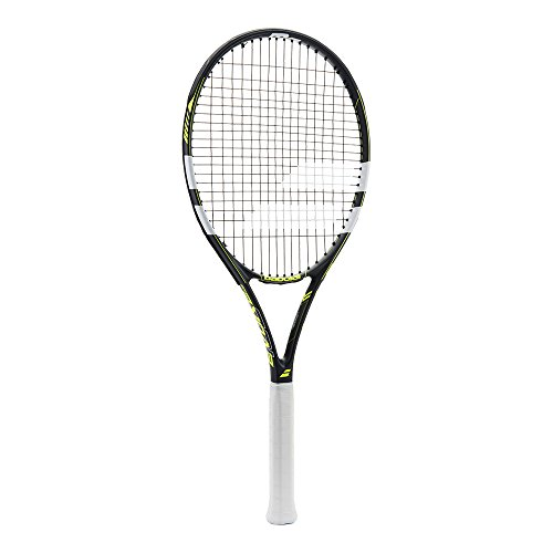 "Babolat Evoke 102 Tennis Racquet (Strung), Grip Size - 43/8"" (Grey Yellow)"