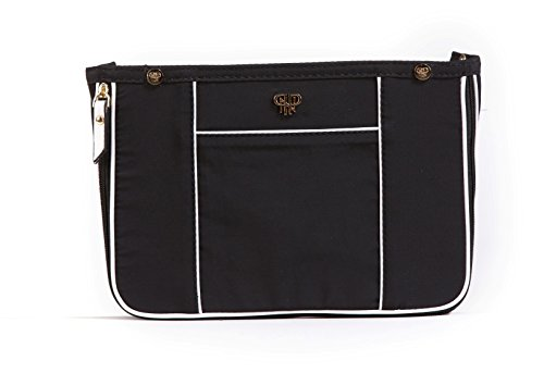 PurseN Premium Quality Borsetta Organiser Insert–Small–espandibile a Medio Nero Blanc Noir