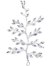 Frcolor Horquillas para el Pelo con Forma de árbol, de Cristal Transparente, Novia