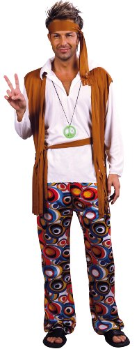 Costume da hippy per uomo xl