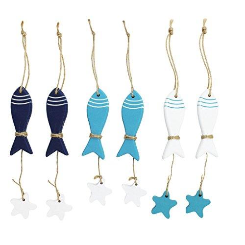 zerne Seefisch-hängende nautische Dekorations-Wand-hängende Geschenk-Fertigkeiten (Nautische Hängende Dekorationen)