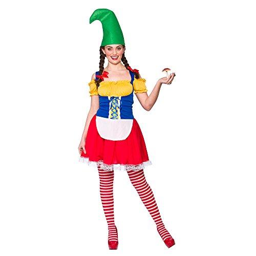 Adults Ladies Cute Gnome Costume for Garden Elf Dwarf Orc Goblin Fancy Dress