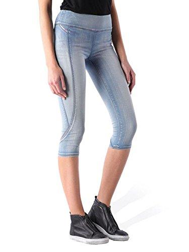 Diesel Actyvista-Crop 0673X Damen Jeans Hose Capri Sweat Jeans (W27, Blau) Crop Capri-jeans