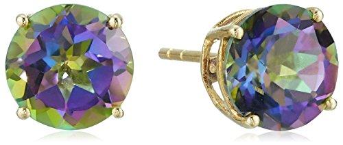 10k-yellow-gold-mystic-topaz-round-stud-earrings