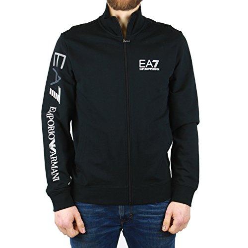 EA7 JACKE HERREN SWEATJACKE 3YPM99 SCHWARZ BLACK MEN, Größe:XXL