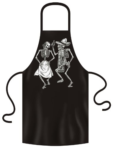 Dia-grills (Tanzende Skelette auf Grill und Kochschürze! Dia de los Muertos! Dancing skeletons Tolles Geschenk!)