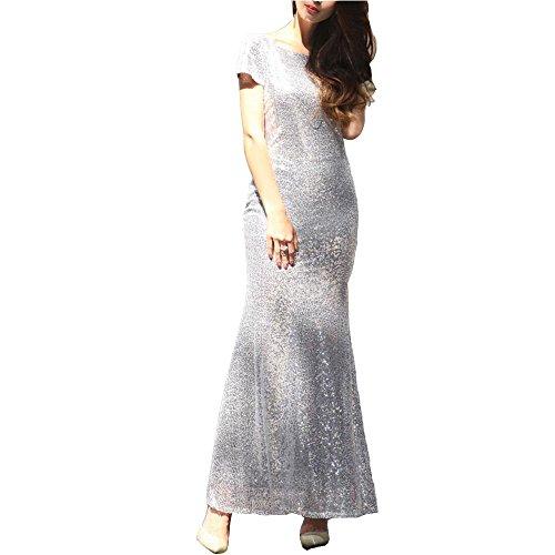 Dame Evening Dress Up Die Hochzeit Brautjungfer Kleider Elegant Ärmellos , purple , (Up Dress Mermaid Kleidung)