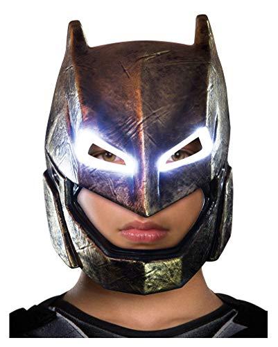 Up Light Batman Kostüm - Horror-Shop Batman v Superman Armored Batman Kinder-Maske mit LED