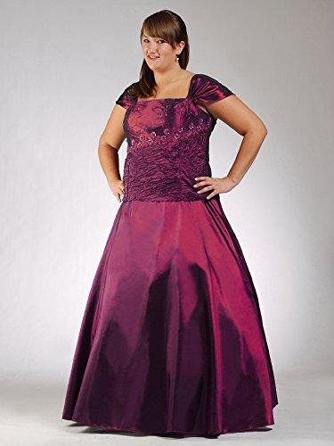 Austen - Robe - Trapèze - Uni - Manches Courtes - Femme Violet