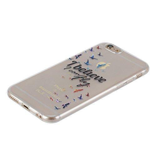 KM-WEN® Schutzhülle für Apple iPhone 6 Plus / 6s Plus (5,5 Zoll) Ultra-dünnes Feder Muster Hollow Hohl Slim Weiche TPU Case Cover Rückseite Schutzhülle Hülle für Apple iPhone 6 Plus / 6s Plus (5,5 Zol Farbe-10
