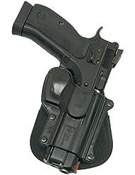 Fobus nouveau dissimulé pistolet report rétention étui Holster pour CZ 75D, CZ 75B, CZ SP 01, 75D Compact avec des rails / Sarsilmaz Defense Full Size et Compact avec des rails / Canik 55 / Tri-Star T-120 9mm étui en polymère noir