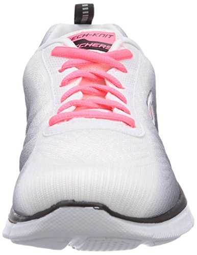 Skechers EqualizerPerfect Pair, Low-Top Sneaker donna Bianco (Weiß (WBLK))