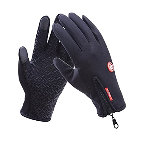HENGSONG Men Touch Screen Gloves Winter Mittens Cold Weather Outdoor Sport Cycling Skiing Mountaineering Gloves (L,