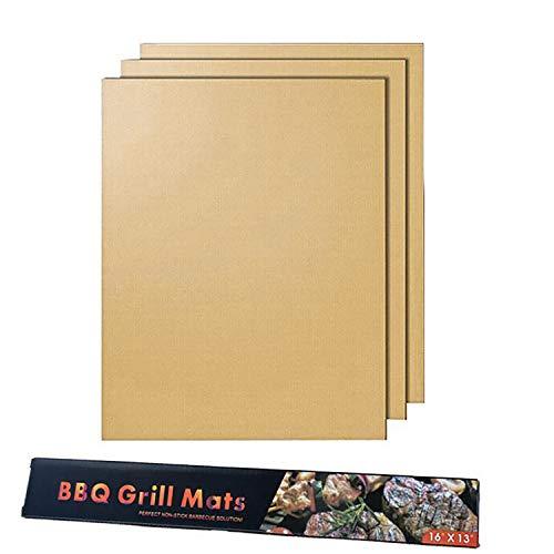 Barbecue mat,bbq grill mat antiaderenti riutilizzabile lavabile e resistente al calore 260℃ per grilling meat veggies seafood sgs approvato dalla fda 3 confezioni