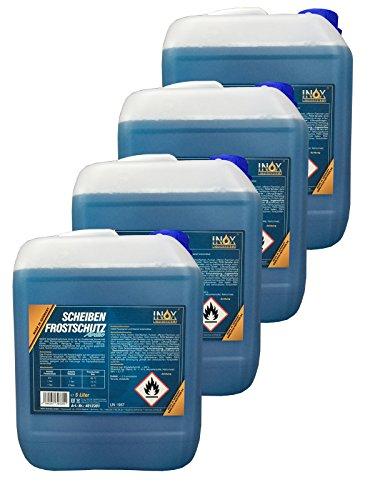 INOX® Arctic Scheibenfrostschutz Konzentrat, Frostschutzmittel bis -35°C - 4 x 5 Liter