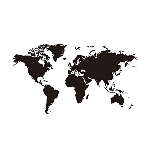Kentop Wandtattoos Weltkarte Wandsticker Aufkleber Wandaufkleber Selbstklebend Wohnmobil Aufkleber Fensterdeko für Wohnzimmer Küche Dekoration - Welt Aufkleber