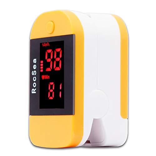 SUN RNPP Blutzuckermessgeräte Oximeter fingerspitzen-Finger-sättigungsdetektor zur Überwachung der herzfrequenz tragbar,Orange