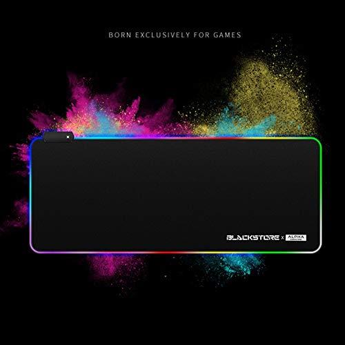 ITMonco LED Gaming Mauspad beleuchtet mit Micro USB Kabel RGB Farbwechsel Beleuchtung Game Mousepad - PC Computer Maus Pad Unterlage (Usb-kabel Monster-beleuchtung)
