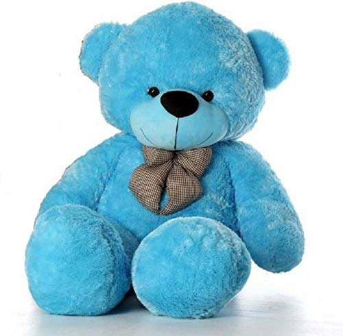 BN SOFT TOYS Teddy Bear { Colour Sky Blue . Size 4 Feet }
