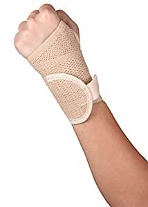 Healthgenie Wrist Brace with Thumb Support One Size Fits Most - 1 Piece (Beige)