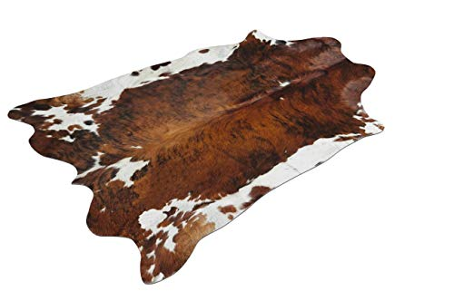 Sunshine Cowhides Alfombra DE Piel DE Vaca Tricolor - Tamaño: 220 x 200 cm 100% Natural - Marca Pieles del Sol