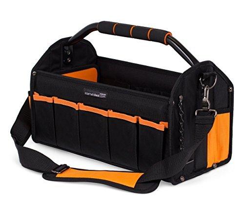 Internet 's Best Offene Elektriker-Werkzeugtasche | 41cm | Werkzeugkoffer mit hartem Rahmen | 16Taschen |