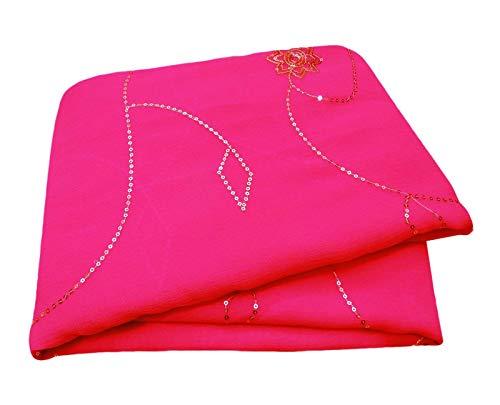 PEEGLI Indisch Frau Sarong Wickeln Rosa Vintage Saree Georgette Chiffon DIY Stoff Traditionell Tragen Designer Bestickt Ethnisch Sari Designer-chiffon Sarees